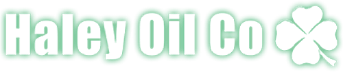 Haley Oil Co Logo white and green